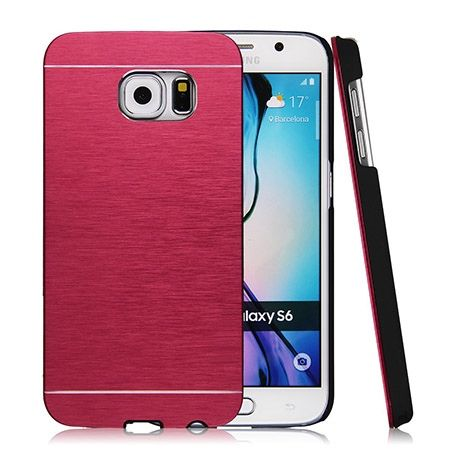 Galaxy S6 edge etui Motomo aluminiowe czerwony. PROMOCJA !!!