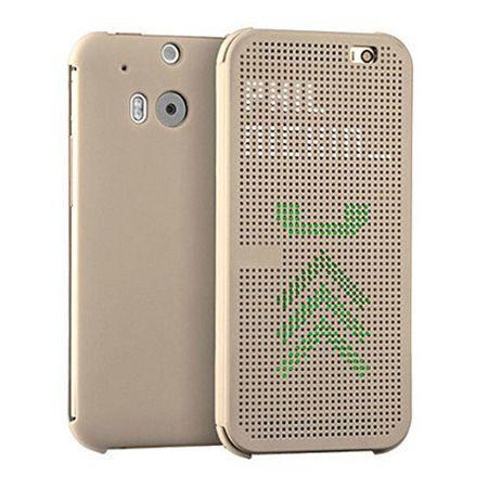 HTC Desire 820 etui Flip Dot View złoty