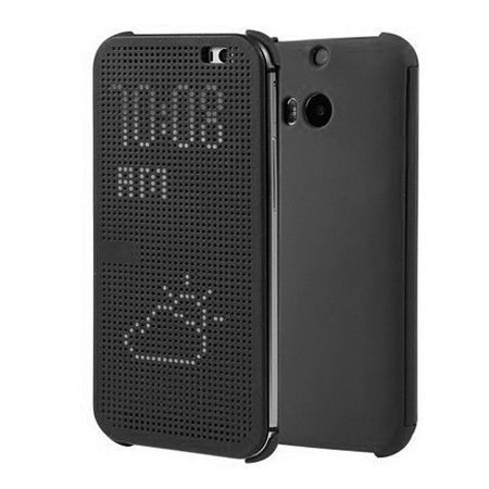 HTC One M8 etui Flip Dot View szary