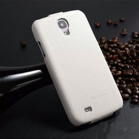 Galaxy S4 etui skórzane z klapką biały