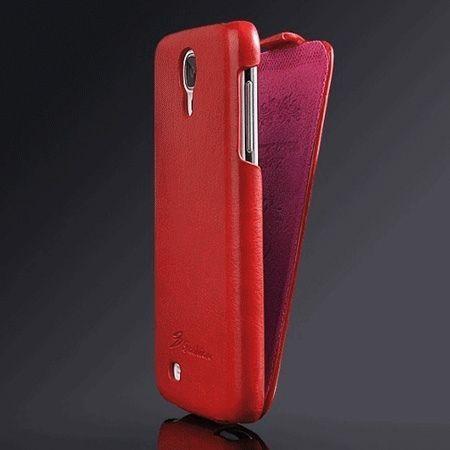 Galaxy S4 etui skórzane z klapką czerwony