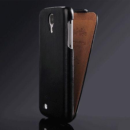 Galaxy S5 etui skórzane z klapką czarny