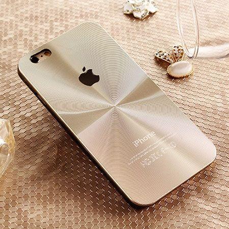 Etui iPhone 5 / 5s złote plecki aluminiowe efekt cd