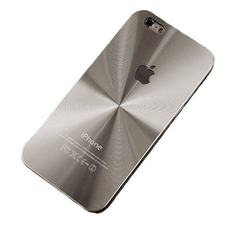 iPhone 5, 5s srebrne plecki aluminiowe efekt cd