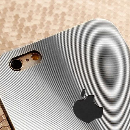 iPhone 5,5s srebrne plecki aluminiowe efekt cd