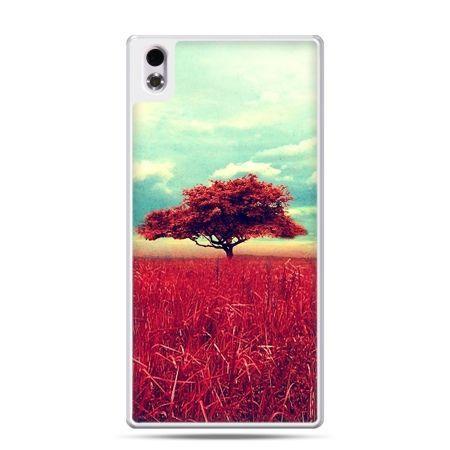 HTC Desire 816 etui czerwone drzewo
