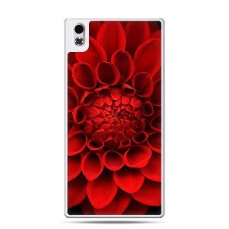 HTC Desire 816 etui czerwona dalia