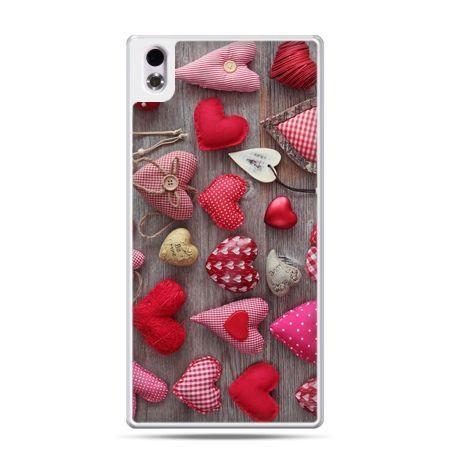 HTC Desire 816 etui pluszowe serduszka