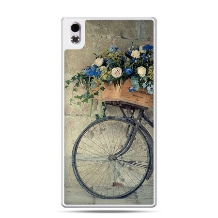 HTC Desire 816 etui rower z kwiatami