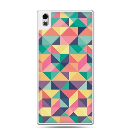 HTC Desire 816 etui kolorowe trójkąty