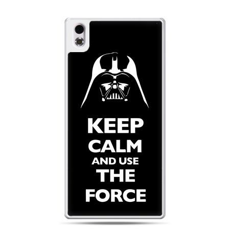HTC Desire 816 etui Keep calm and use the force