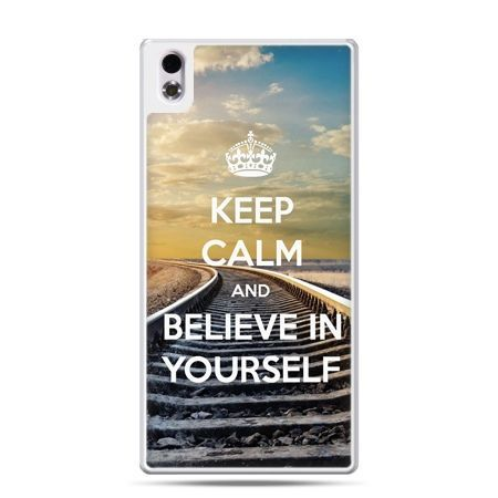 HTC Desire 816 etui Keep Calm and Believe in Yourself