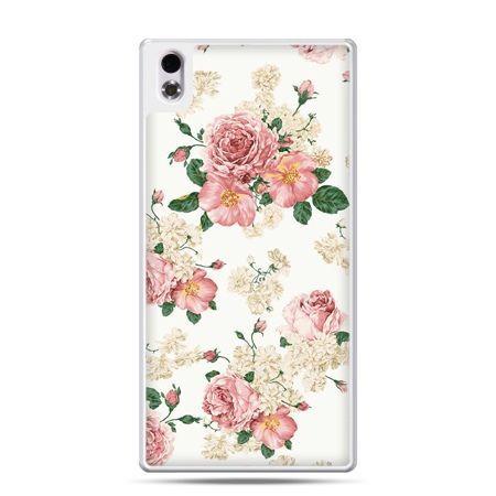 HTC Desire 816 etui polne kwiaty