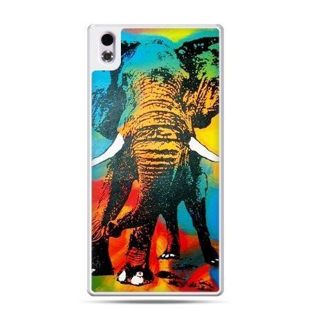 HTC Desire 816 etui kolorowy słoń