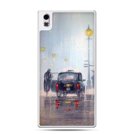 HTC Desire 816 etui Londyn w deszczu