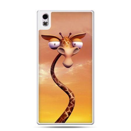HTC Desire 816 etui śmieszna żyrafa