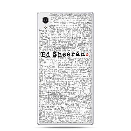 Etui Xperia Z4 Ed Sheeran białe poziome