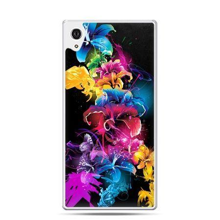 Etui Xperia Z4 kolorowe kwiaty