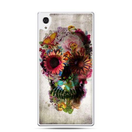 Etui Xperia Z4 czaszka z kwiatami