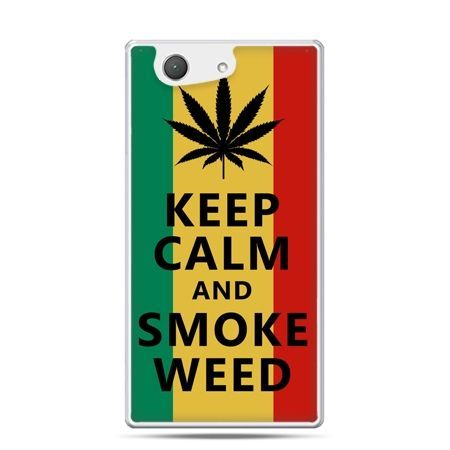 Xperia Z4 compact etui Keep Calm and Smoke Weed