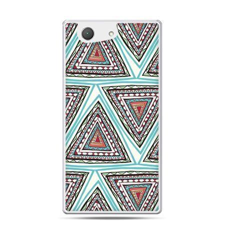 Xperia Z4 compact etui Azteckie trójkąty
