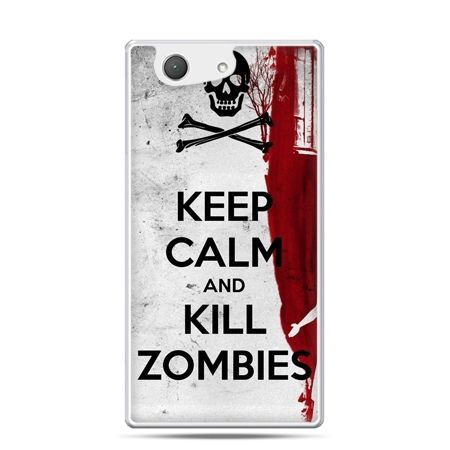 Xperia Z4 compact etui Keep Calm and Kill Zombies