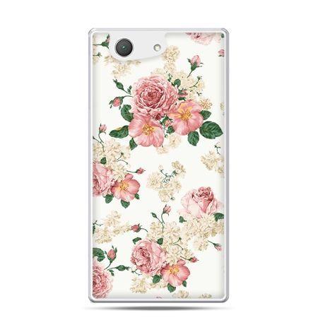 Xperia Z4 compact etui polne kwiaty