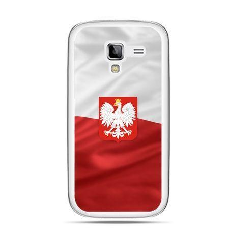 Etui na telefon Galaxy Ace 2 patriotyczne - flaga Polski z godłem