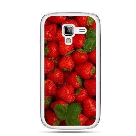 Galaxy Ace 2 etui czerwone truskawki
