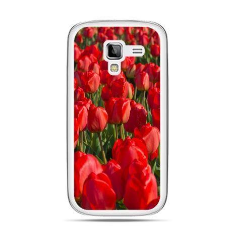 Galaxy Ace 2 etui czerwone tulipany