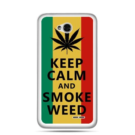 Etui na LG L70 Keep Calm and Smoke Weed