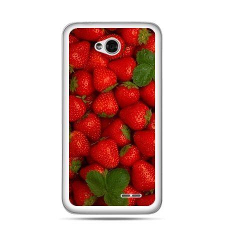 Etui na LG L70 czerwone truskawki