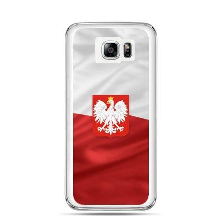 Etui na telefon Galaxy Note 5 patriotyczne - flaga Polski z godłem