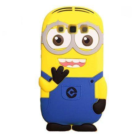 Galaxy Core Plus etui gumowe 3D minionki