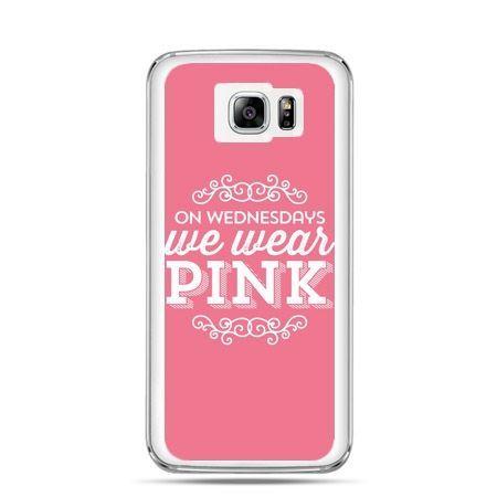 Galaxy Note 5 etui różowe z napisem