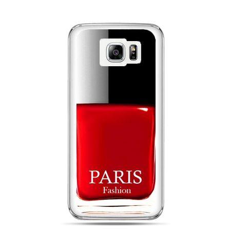 Galaxy Note 5 etui lakier do paznokci czerwony