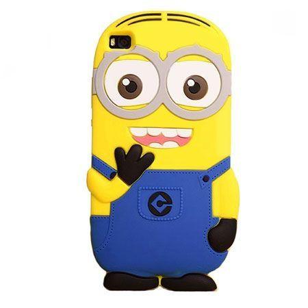 Huawei P8 Lite etui gumowe 3D minionki