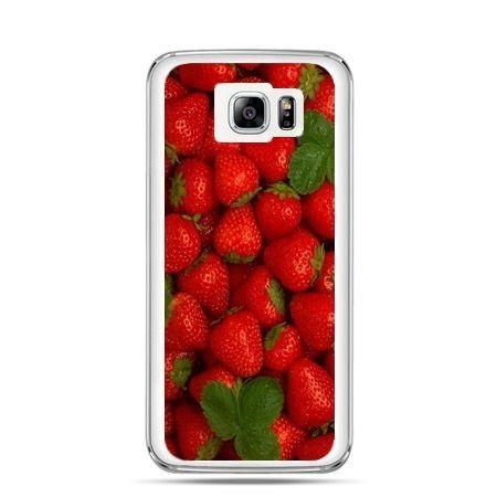 Galaxy Note 5 etui czerwone truskawki