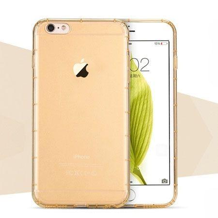 iPhone 6 / 6s Air-shock przezroczyste etui silikonowe - złoty.