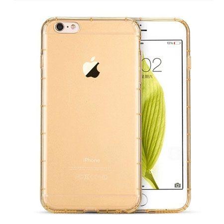 NOWOŚĆ ! iPhone 6 Plus zloty Air-shock przezroczyste etui silikonowe