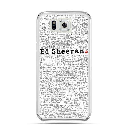 Galaxy Alpha etui Ed Sheeran białe poziome