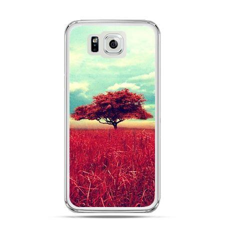 Galaxy Alpha etui czerwone drzewo