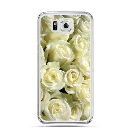 Galaxy Alpha etui białe róże