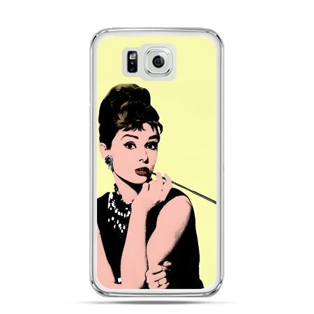Galaxy Alpha etui Audrey Hepburn z papierosem