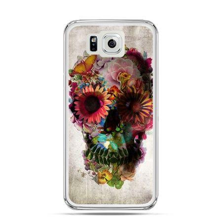 Galaxy Alpha etui czaszka z kwiatami