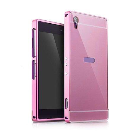 Xperia M4 Aqua Różowy bumper etui aluminium case.