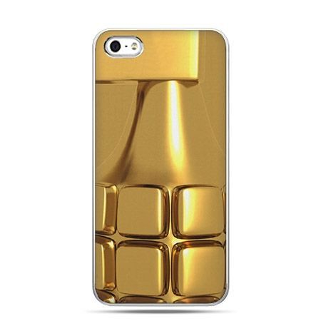 Etui na telefon złoty granat.
