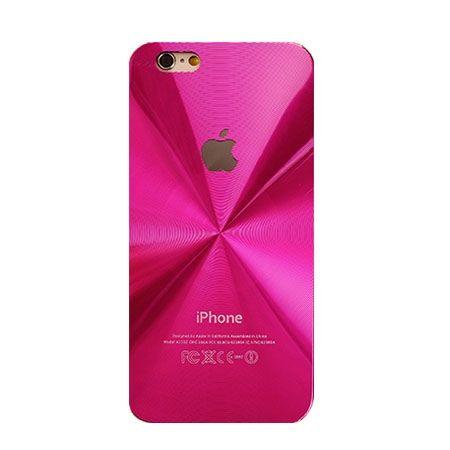 iPhone 4, 4s różowe plecki aluminiowe efekt cd.