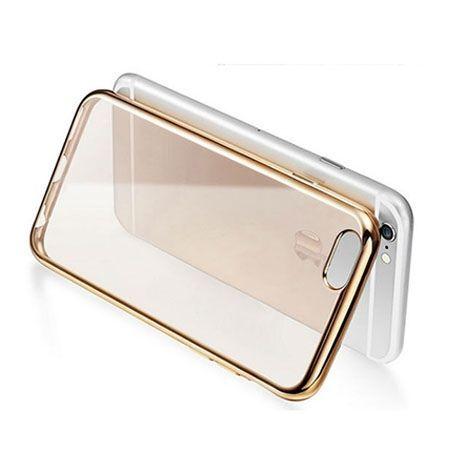 iPhone 6 / 6s silikonowe etui platynowane SLIM kolor złoty.