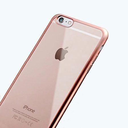 iPhone 6 / 6s silikonowe etui platynowane SLIM kolor różowy.